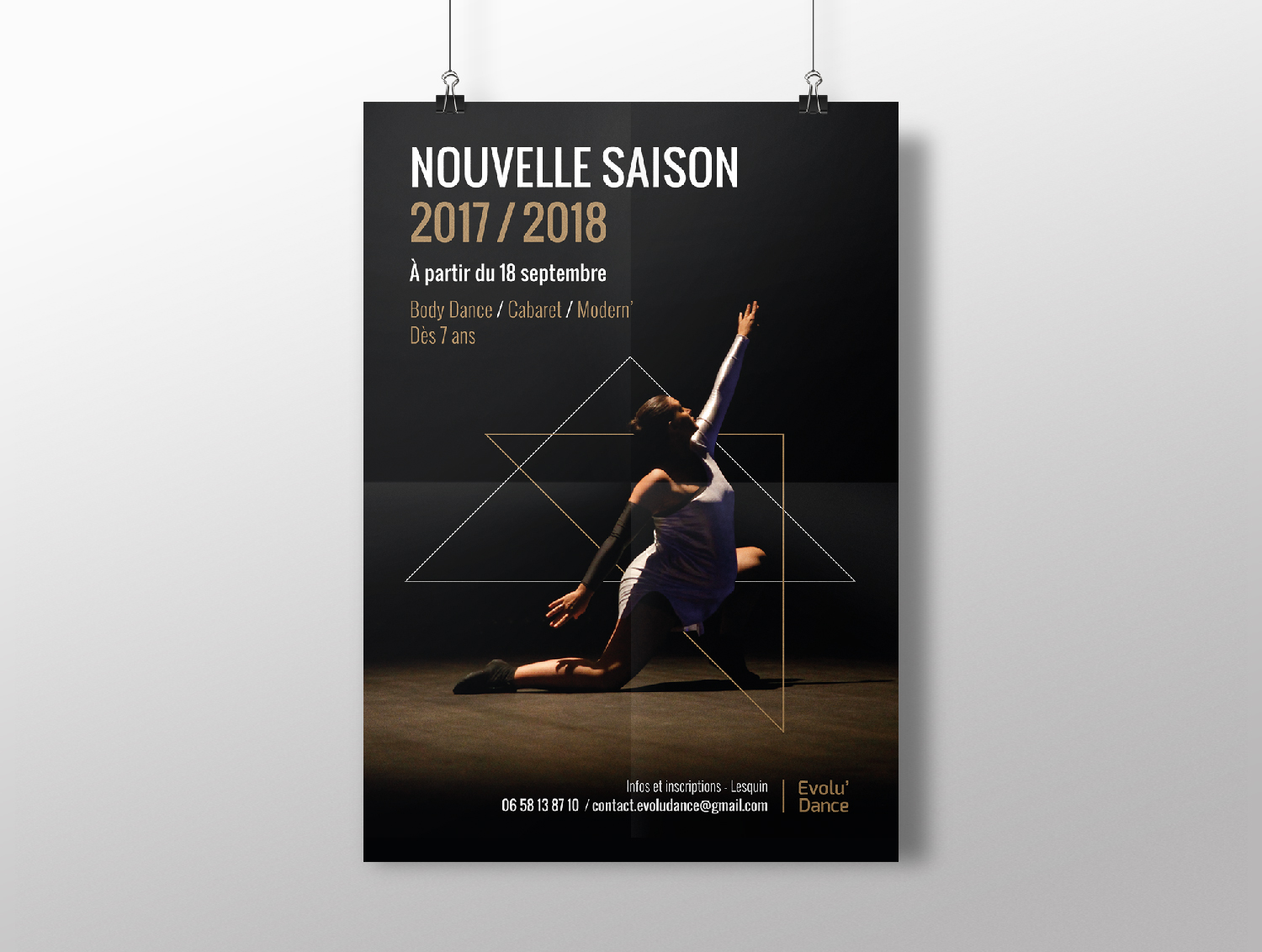 Studio Eckla - Affiche inscription danse