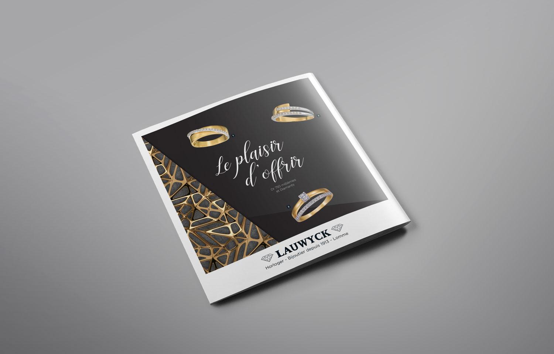 Studio Eckla - Dépliant bijouterie Lauwyck