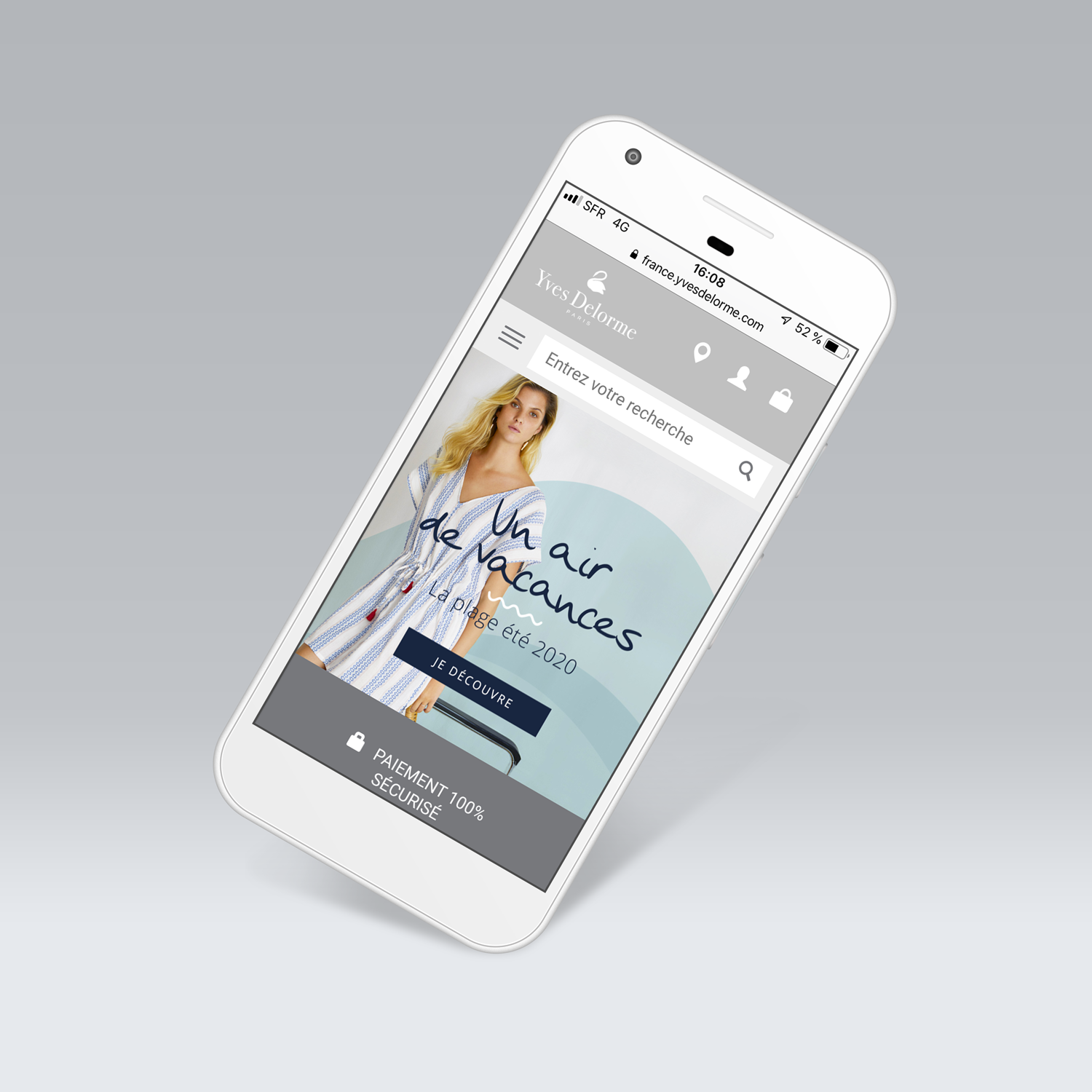 Homepage pour mobile pour le site Laurence Tavernier - Digital Home