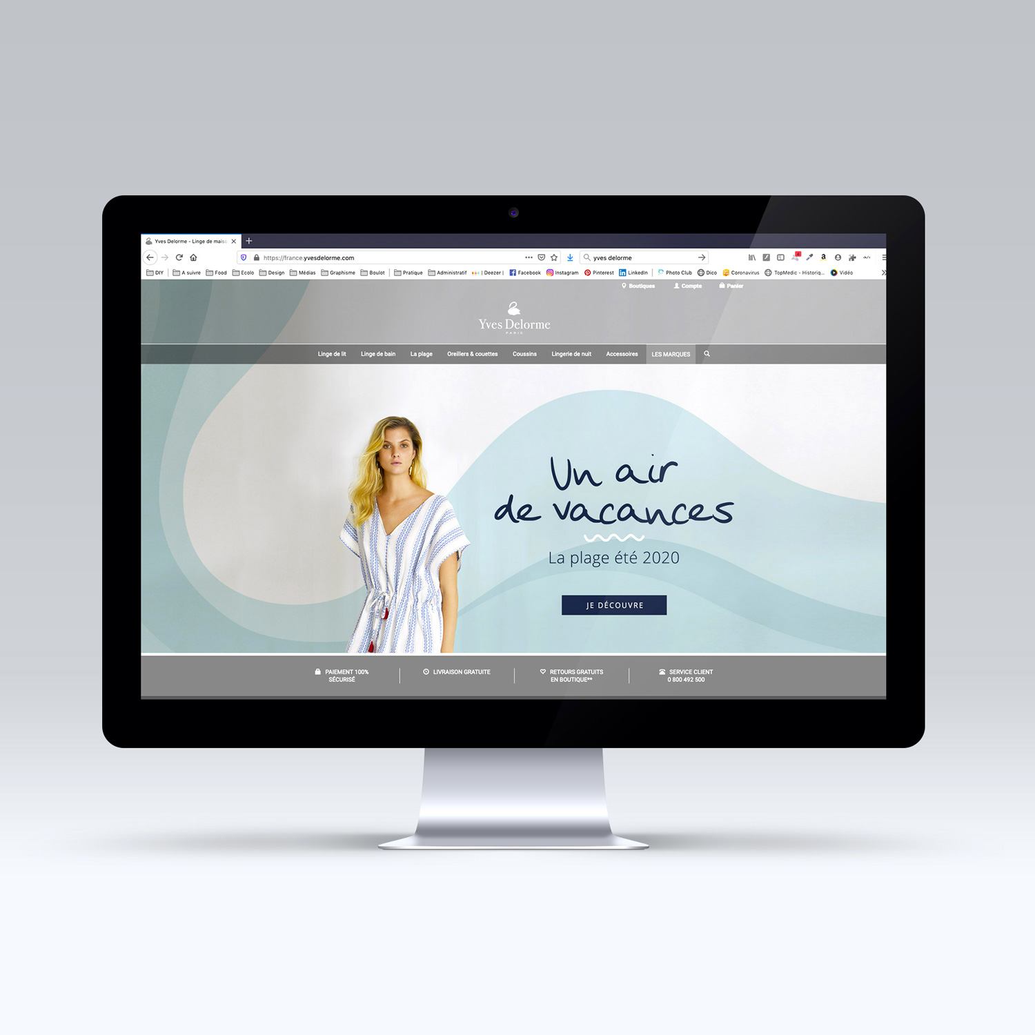 Homepage pour le site Laurence Tavernier - Digital Home