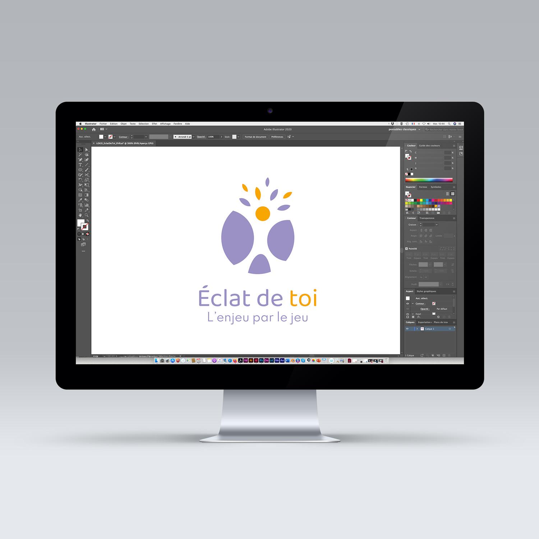 Création du logo Eclat de toi - Studio Eckla - Aurélie Marcellak