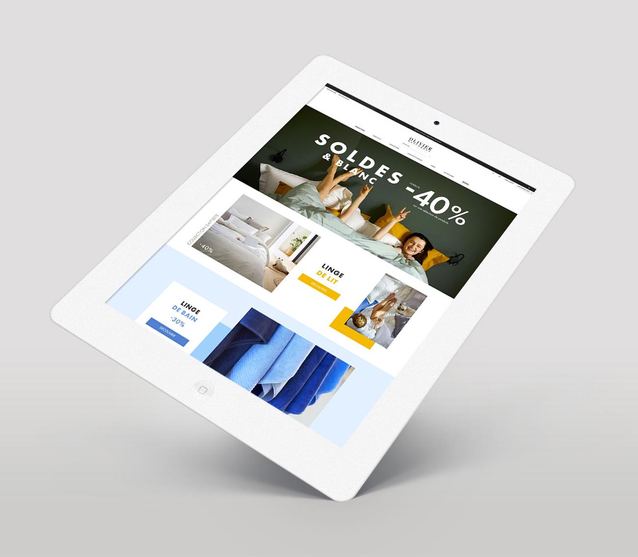Studio Eckla - Aurélie Marcellak   Home page pour Laurence Tavernier à l'occasion des soldes d'hiver