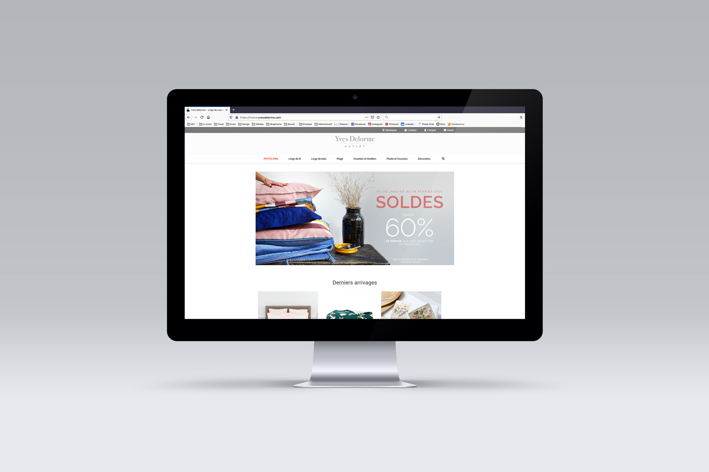 Studio Eckla - Aurélie Marcellak   Newsletter pour Yves Delorme Outlet à l'occasion des soldes d'hiver